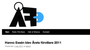 Hanno Essèn är Årets Förvillare 2011