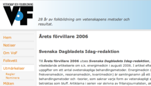 Årets förvillare 2006 Svenska Dagbladet