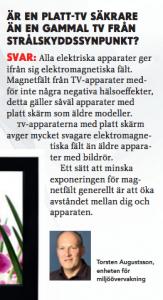 Torsten Augustsson, Strålsäkerhetsmyndigheten