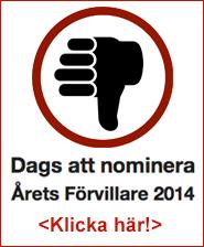 Nominera Årets förvillare 2014