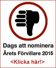 Nominera Årets förvillare 2015Nominera Årets förvillare 2015