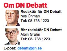 Nils Öhman och Albin Grahn på DN Debatt
