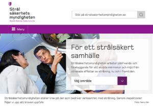 Strålsäkerhetsmyndigheten, hemsida per den 29 nov 2019.