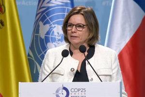 Isabella Lövin, 10 dec 2019. Pressfoto: UNFCCC