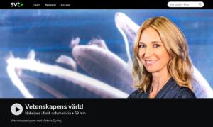 Victoria Dyring, chef på Vetenskapens Värld, SVT, hemsida 26 dec 2019